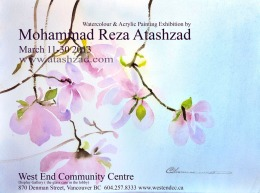 Atashzad Painting Exhibition at West End Community Centre