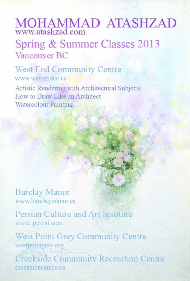Spring & Summer Classes 2013